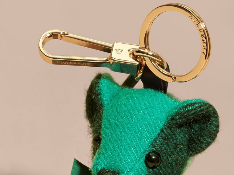 Emerald Thomas Bear Charm in Check Cashmere Emerald - cell image 1
