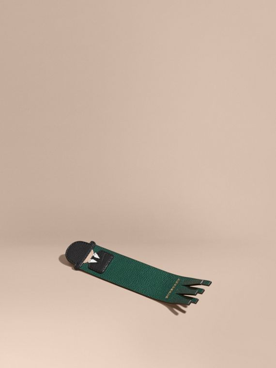 The City Gent Grainy Leather Bookmark in Dark Forest Green