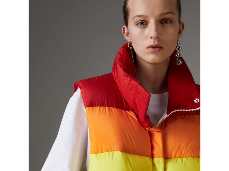 Rainbow Down-filled Gilet - Women | Burberry - cell image 1
