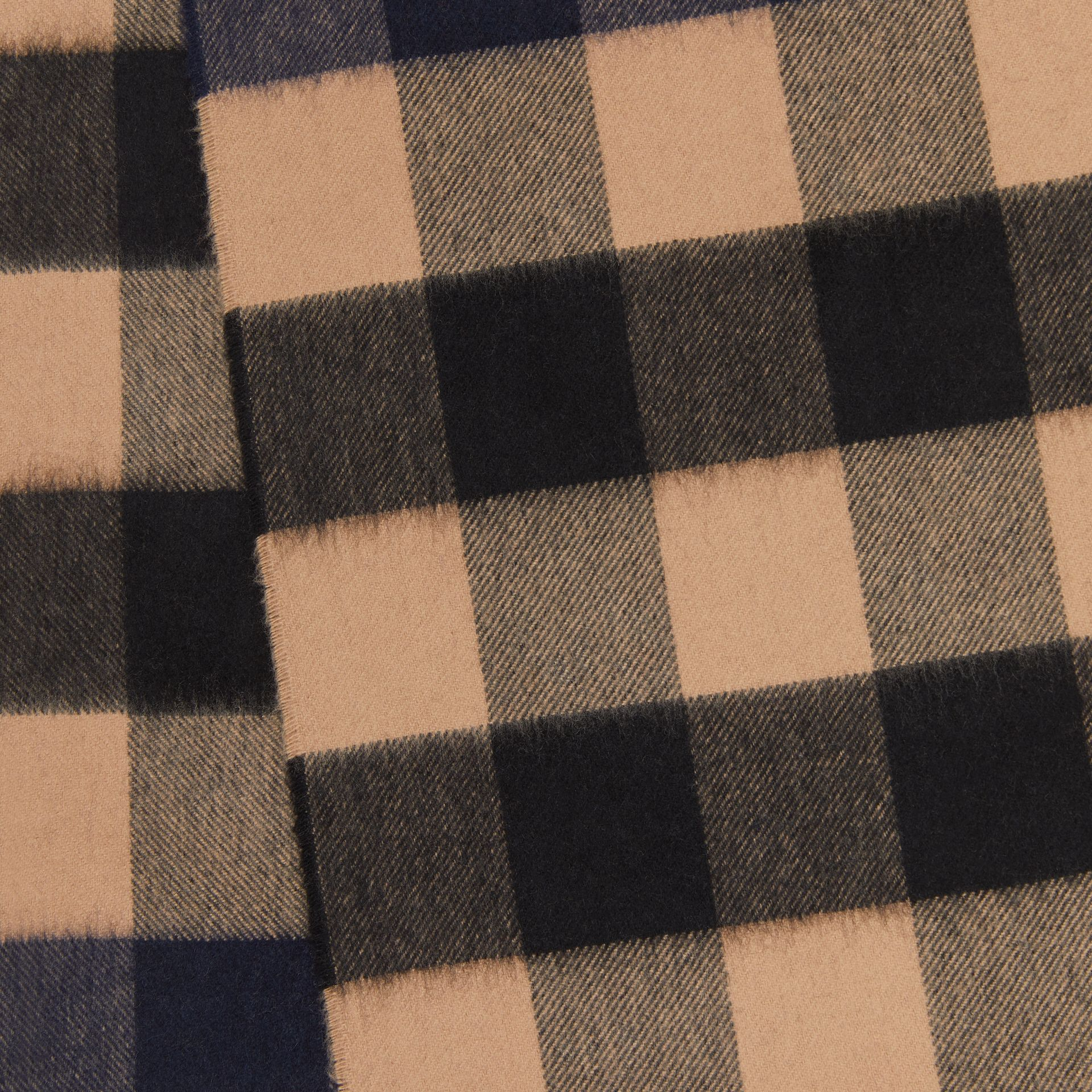Check Cashmere Scarf in Indigo | Burberry - gallery image 1