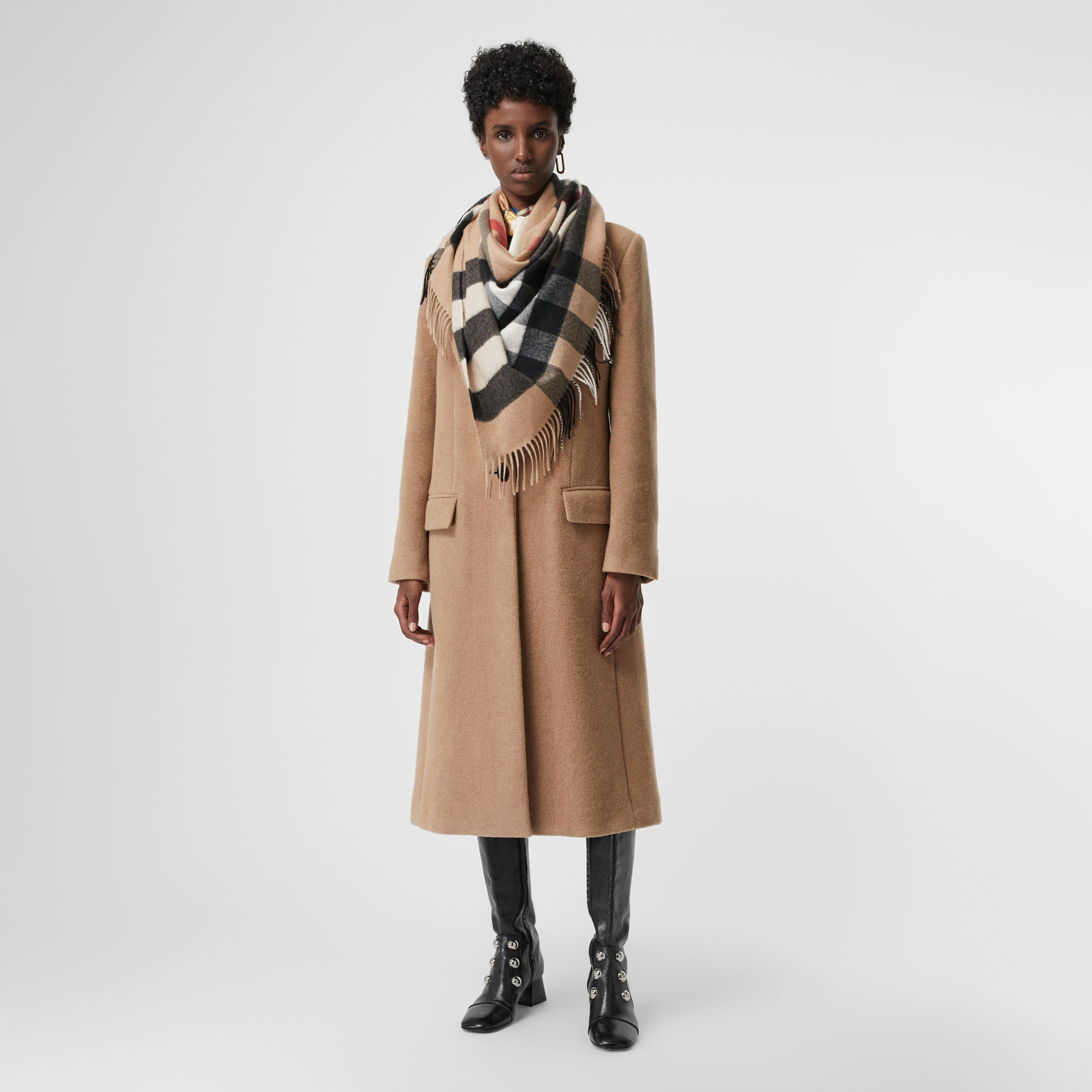 The Burberry Bandana in Check Cashmere in Camel | Burberry Canada - 3