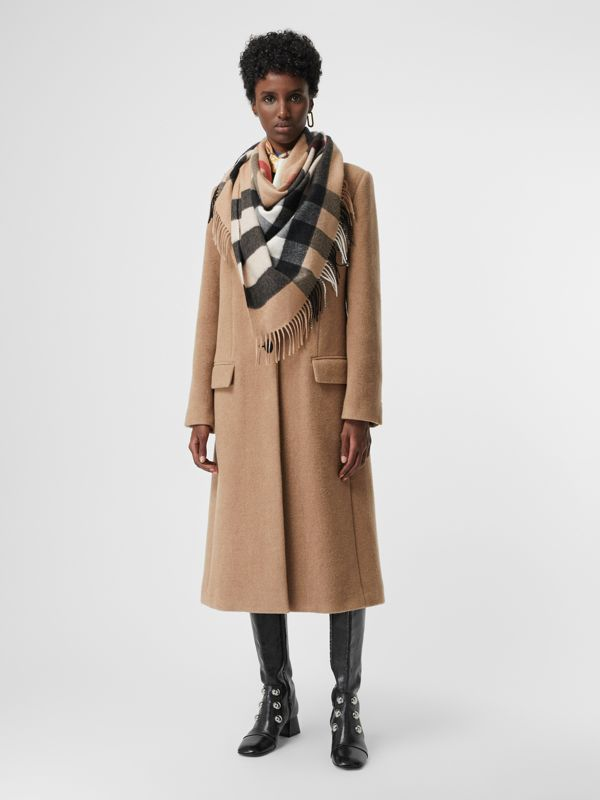 The Burberry Bandana in Check Cashmere in Camel | Burberry Australia - cell image 2