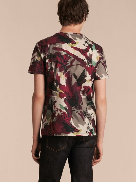Parade red Abstract Floral Print Cotton T-shirt - cell image 2