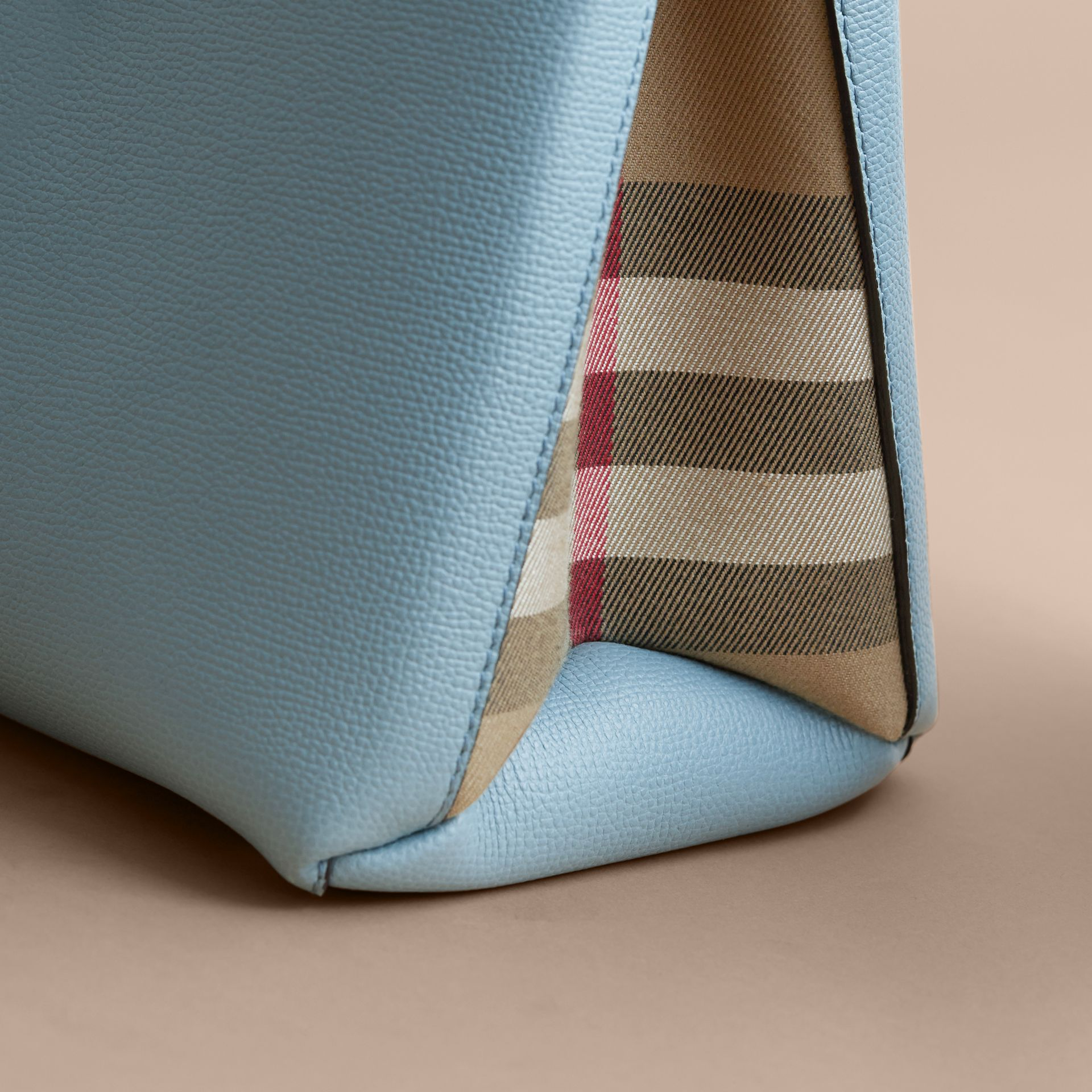 The Medium Banner in Tri-tone Leather and House Check in Pale Opal/slate Blue - Women | Burberry Australia - gallery image 7