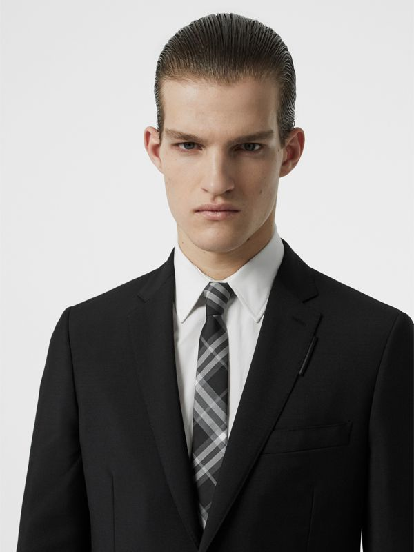 Modern Cut Vintage Check Silk Tie in Black - Men | Burberry Singapore - cell image 2