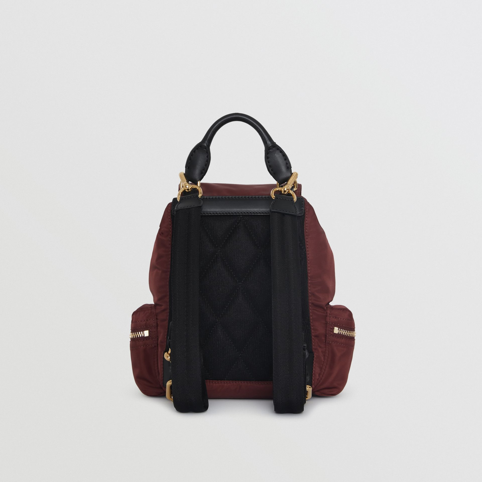 The Small Crossbody Rucksack in Nylon in Burgundy Red - Women | Burberry Australia - gallery image 7