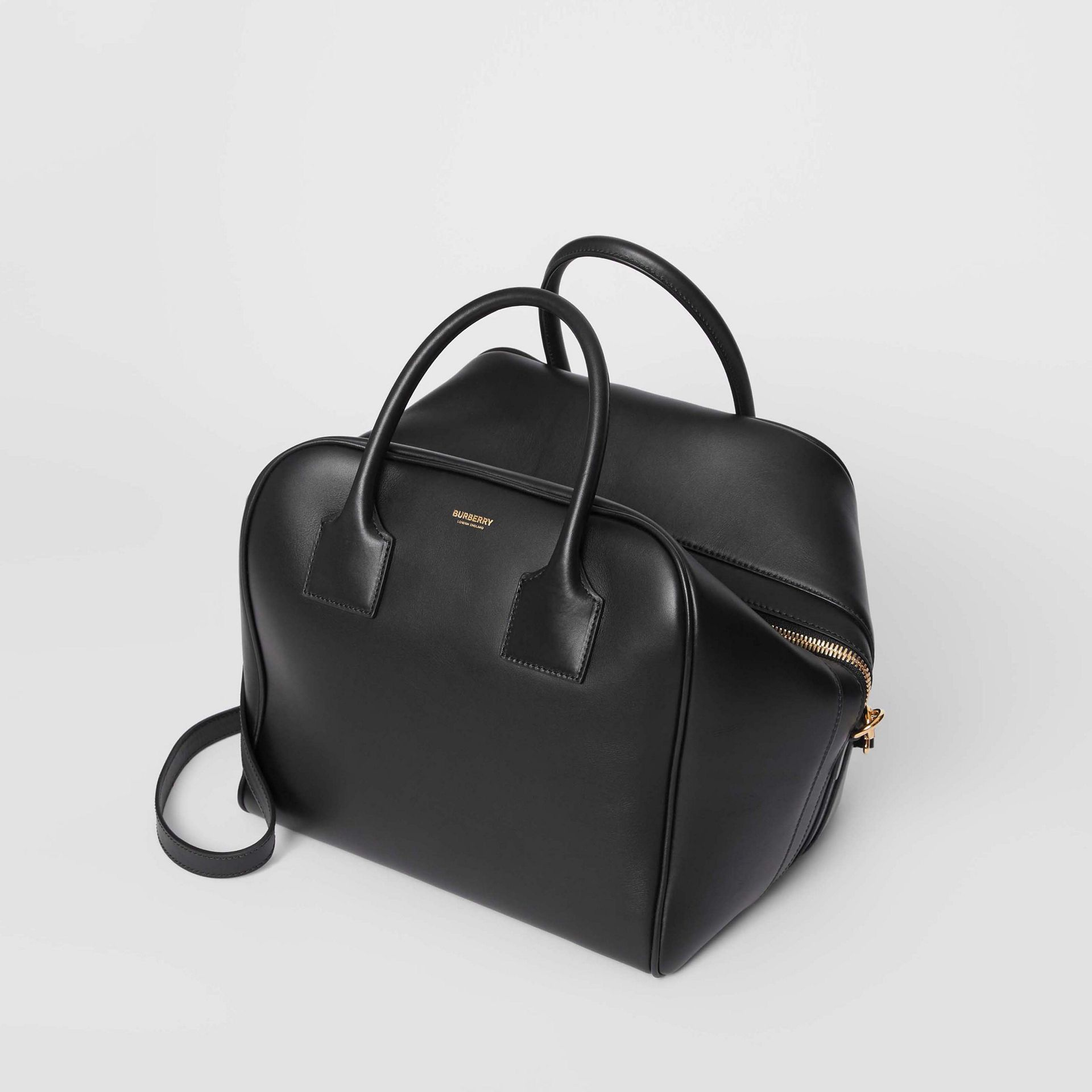 Medium Leather Cube Bag in Black - Women | Burberry - gallery image 3