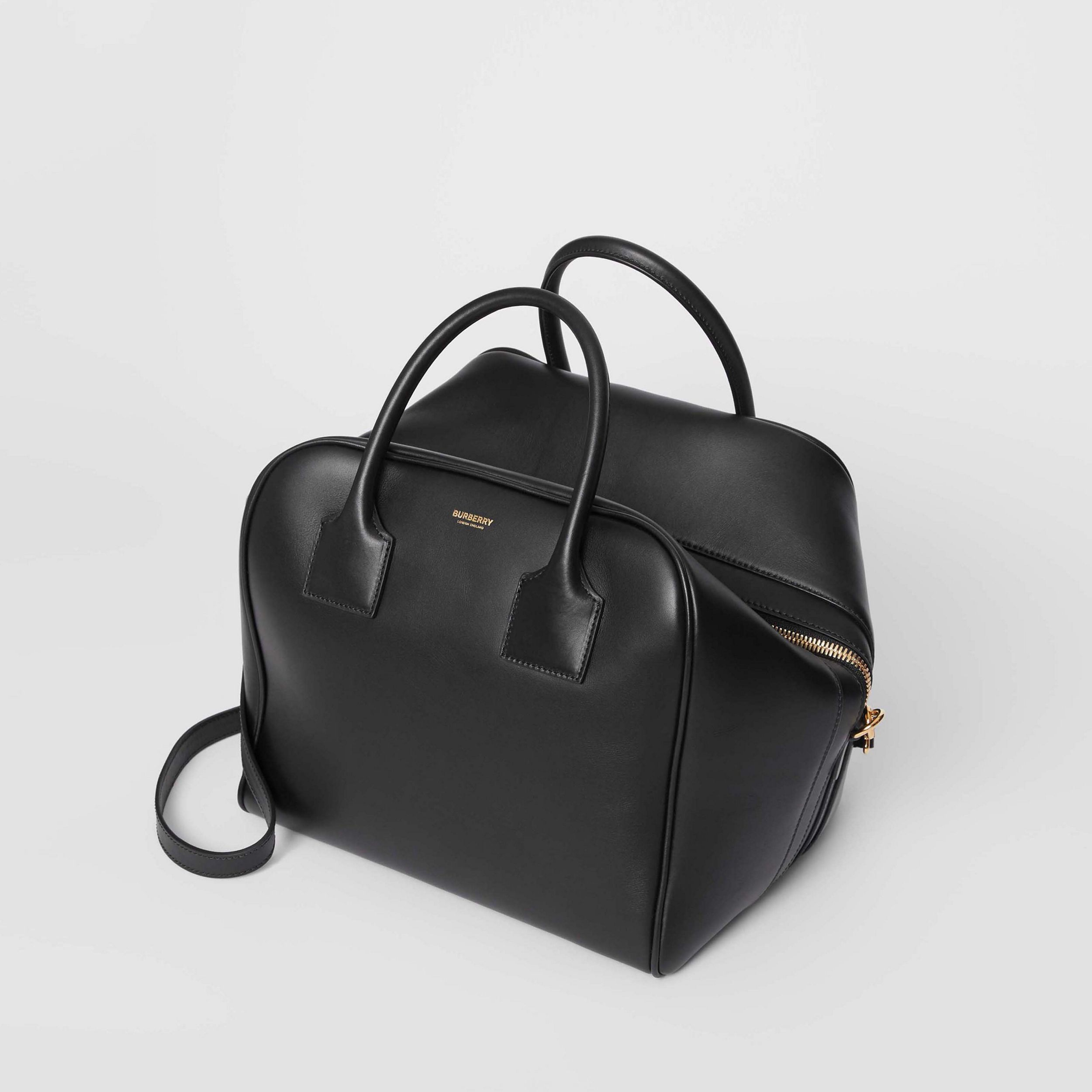 Medium Leather Cube Bag in Black - Women | Burberry United States - 4