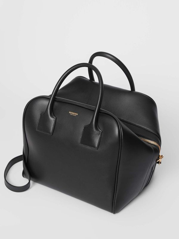 Medium Leather Cube Bag in Black - Women | Burberry Canada - cell image 3