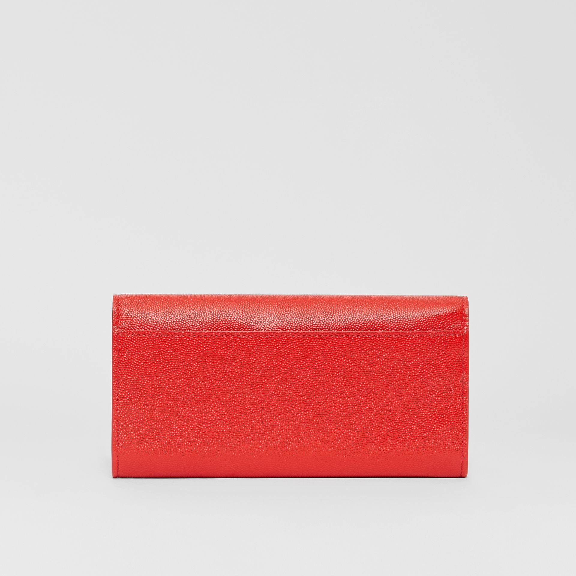 Monogram Motif Grainy Leather Continental Wallet in Bright Red - Women | Burberry Australia - gallery image 5