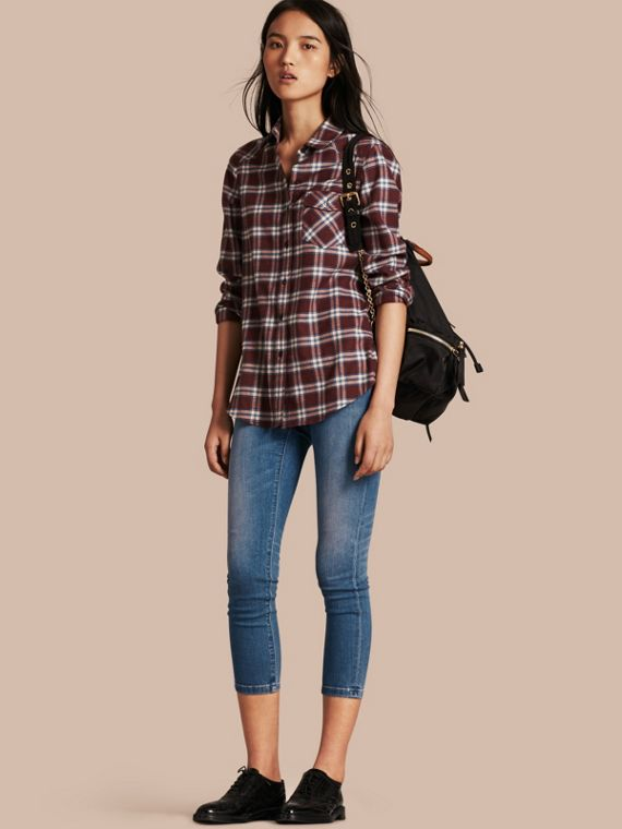 Skinny Fit Low-rise Cropped Jeans - Women | Burberry Australia