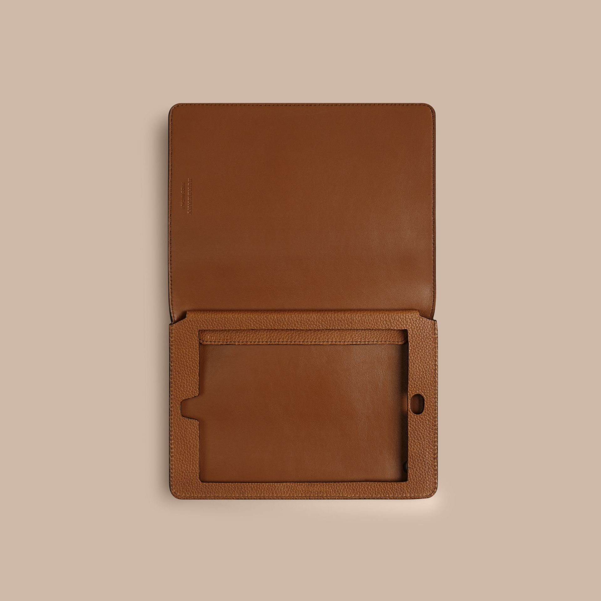 Tan Grainy Leather iPad Mini Case Tan - gallery image 2