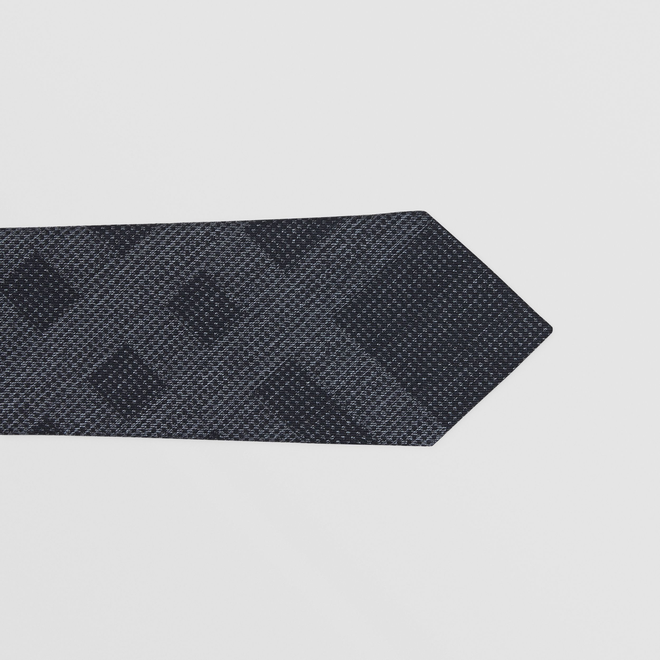 Classic Cut Check Silk Tie in Navy Melange - Men | Burberry - 2