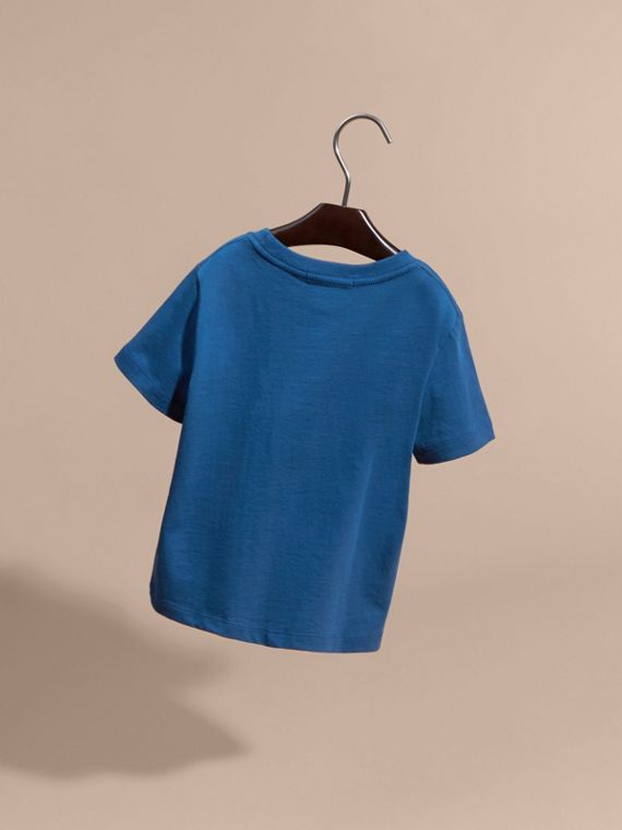 Mineral blue Check Pocket T-Shirt Mineral Blue - cell image 3