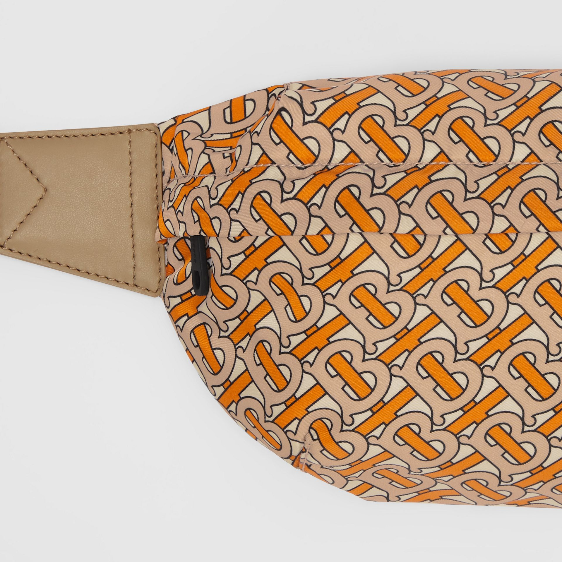 Medium Monogram Print Bum Bag in Bright Orange | Burberry United Kingdom - gallery image 1