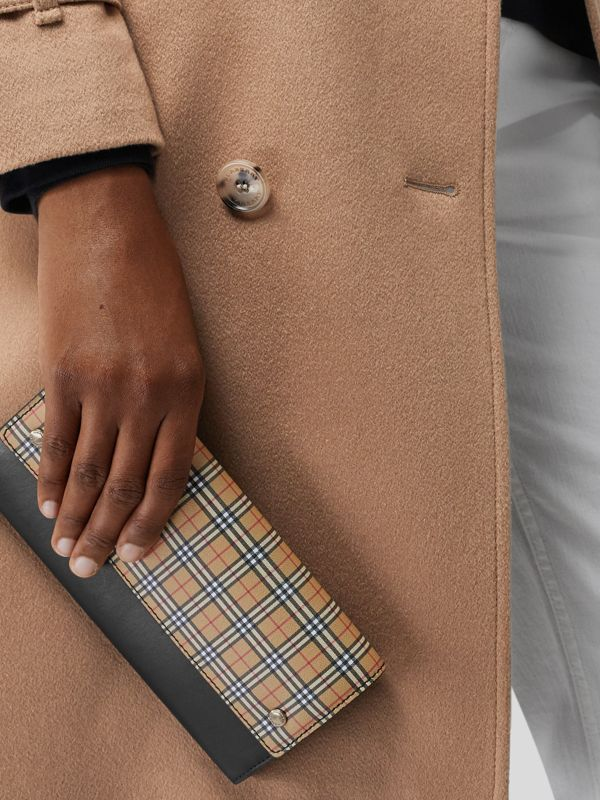 Small Scale Check Wallet with Detachable Strap in Antique Yellow - Women | Burberry United Kingdom - cell image 3