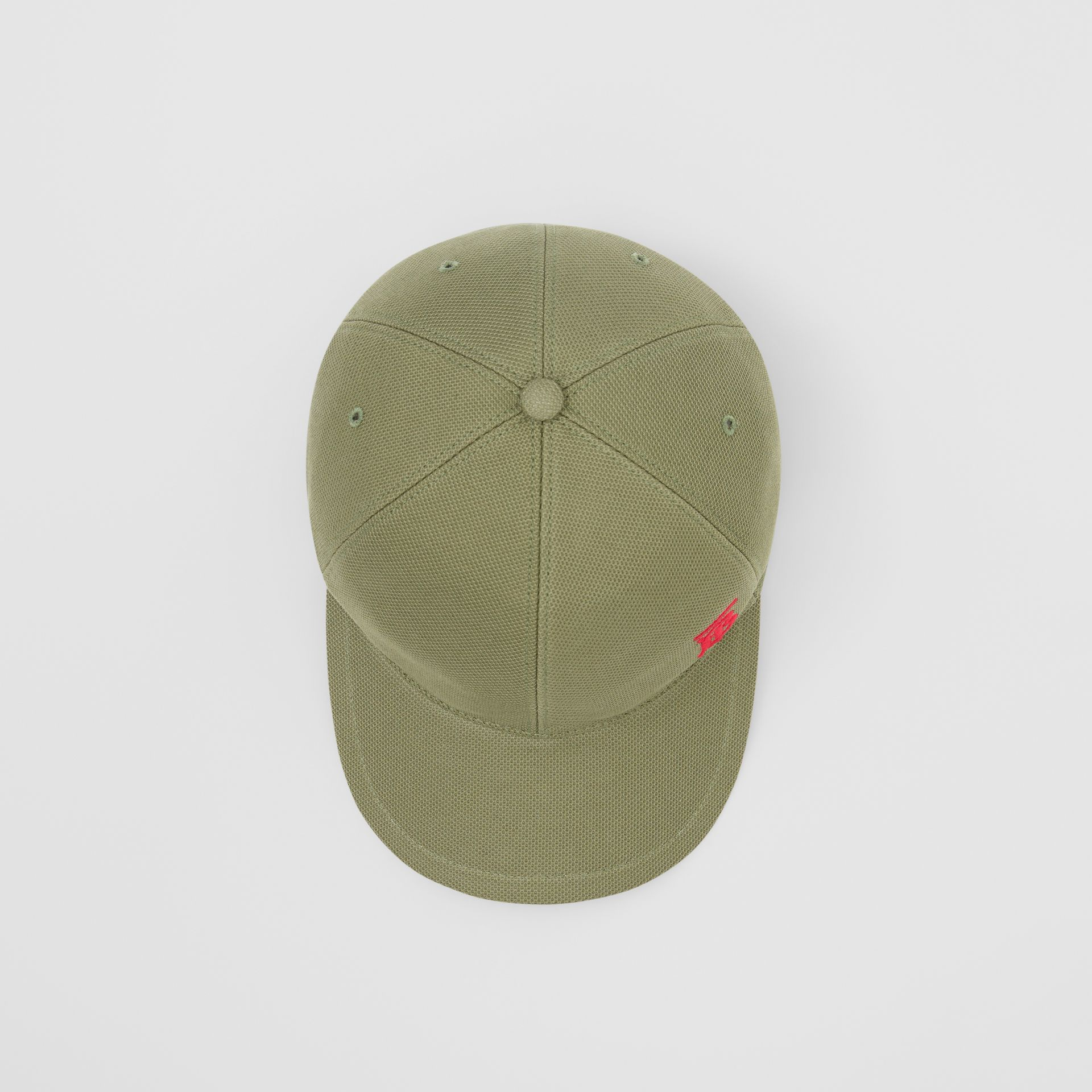 Monogram Motif Baseball Cap in Poplar Green | Burberry - gallery image 0