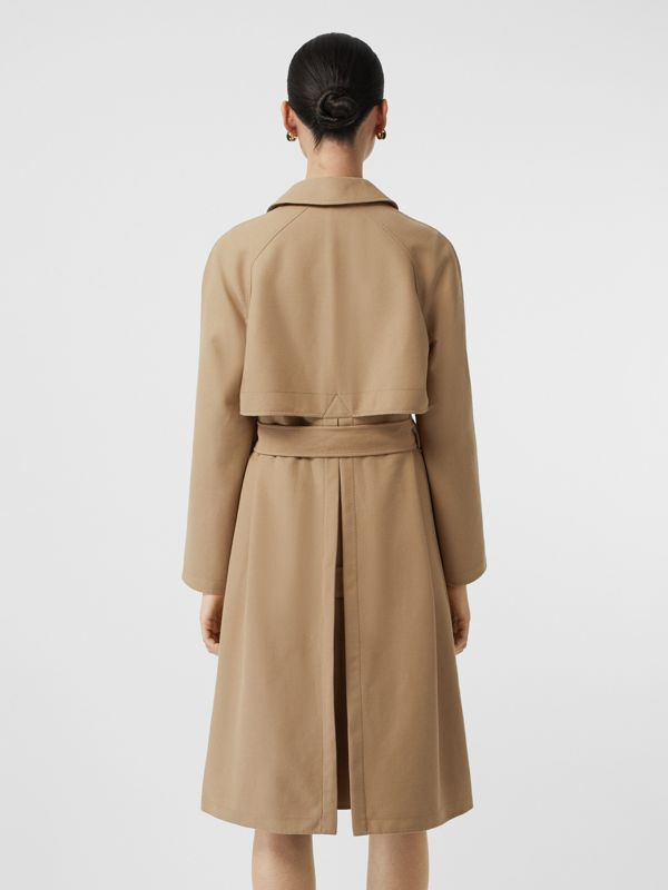 Double-faced Cotton Canvas Car Coat in Honey/white - Women | Burberry Singapore - cell image 2