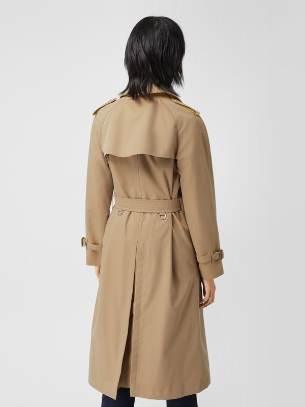 Colour Block Cotton Gabardine Trench Coat in Honey - Women | Burberry - cell image 2