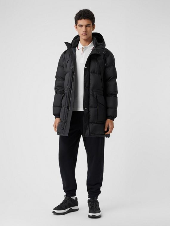 Hooded Puffer Coat in Black