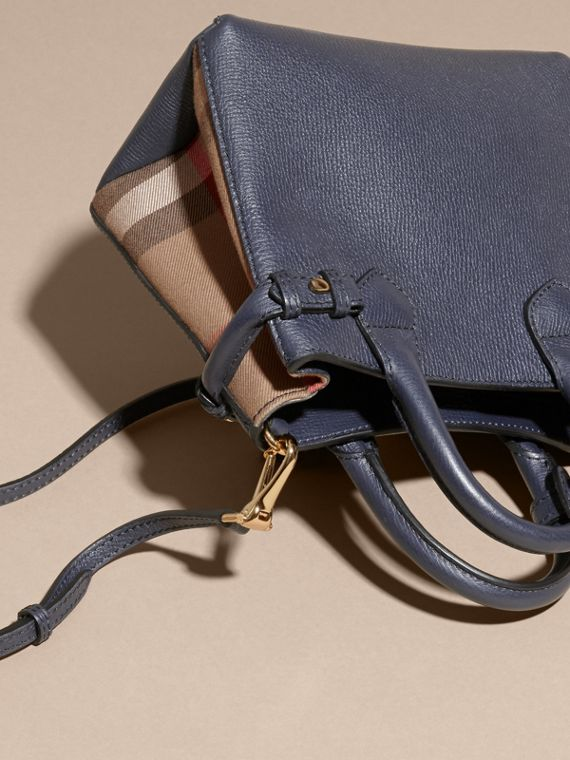 The Baby Banner in Leather and House Check in Ink Blue - Women | Burberry - cell image 3
