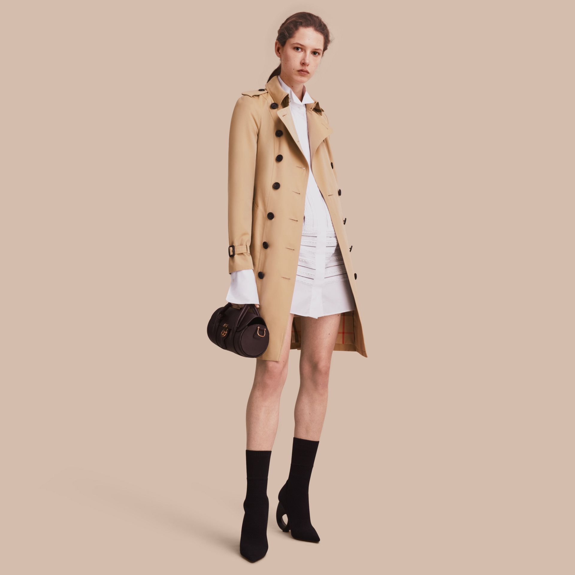 Honey The Sandringham – Long Heritage Trench Coat Honey - gallery image 1