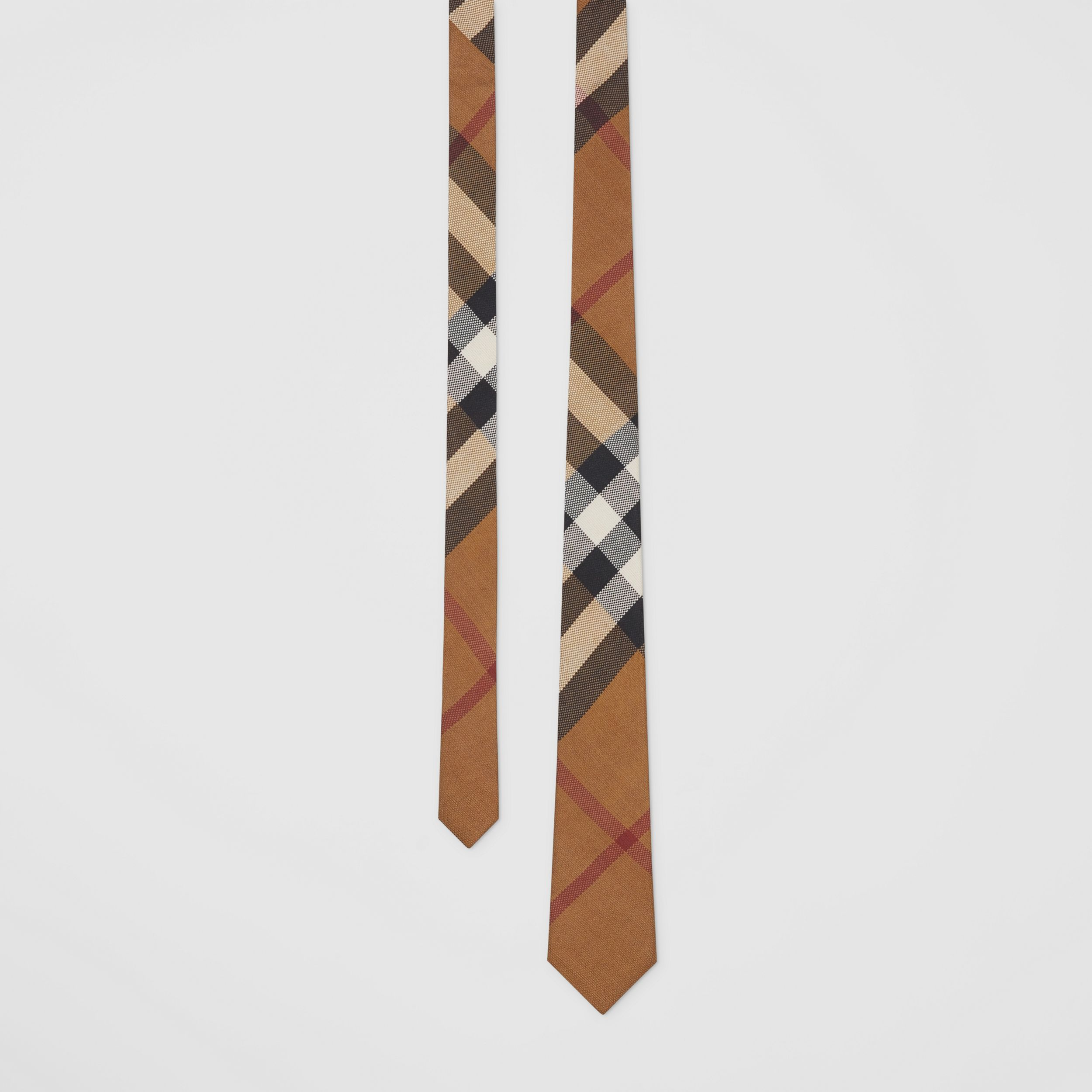 Classic Cut Check Silk Jacquard Tie in Birch Brown - Men | Burberry - 1