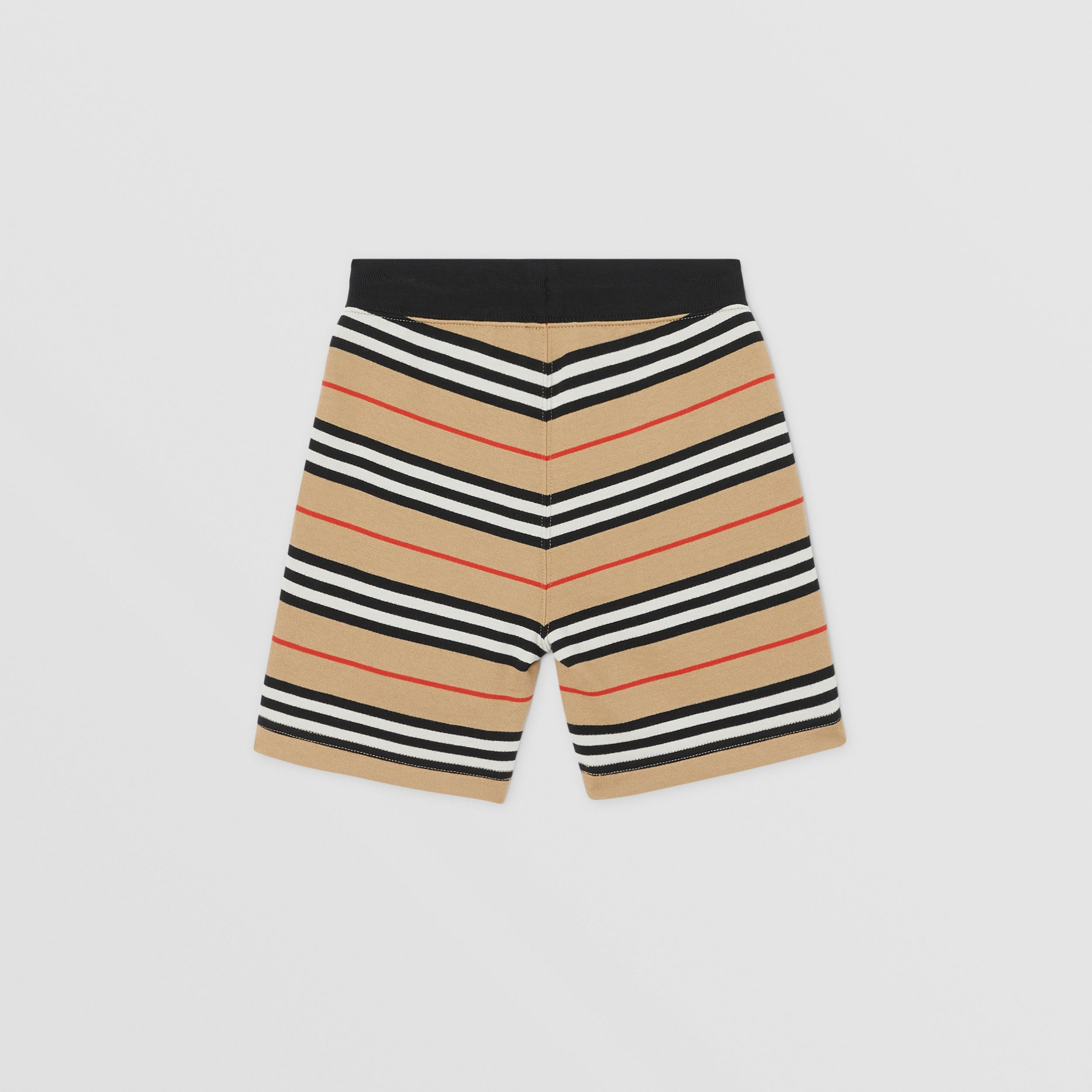 Icon Stripe Cotton Shorts in Archive Beige | Burberry - 4