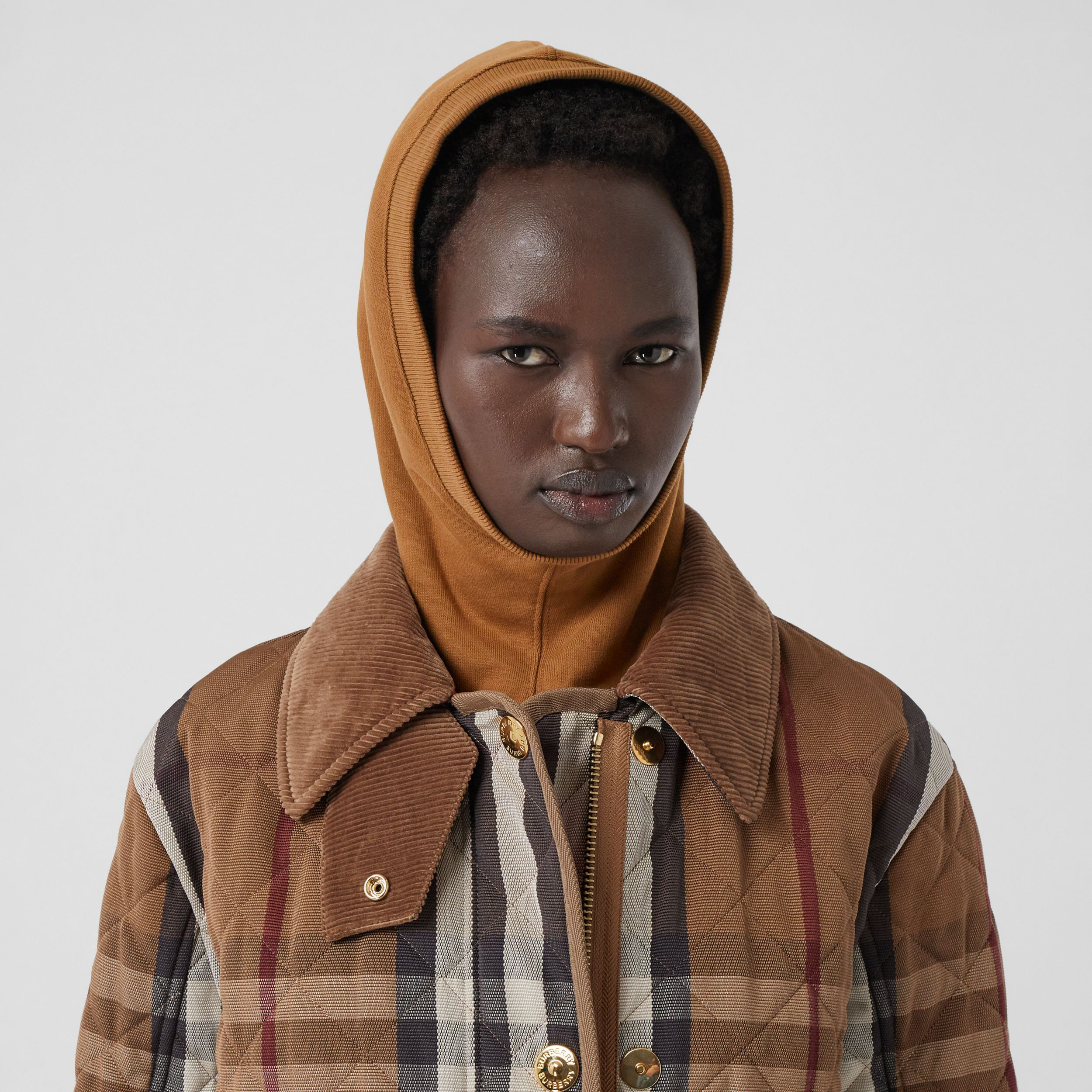Logo Appliqué Cotton Hood in Fawn | Burberry - 2
