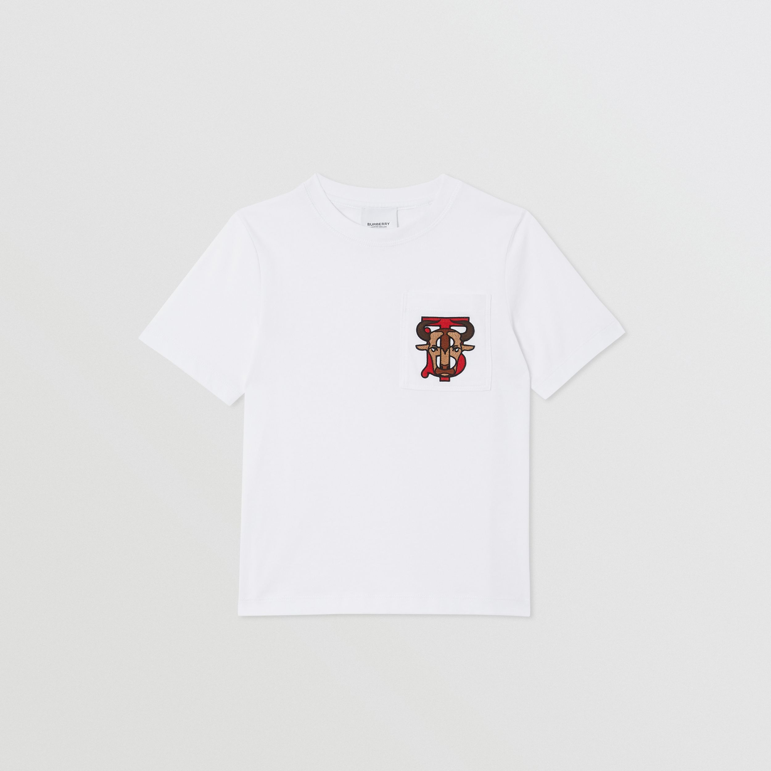 Monogram Motif Cotton T-shirt in White | Burberry Canada - 1