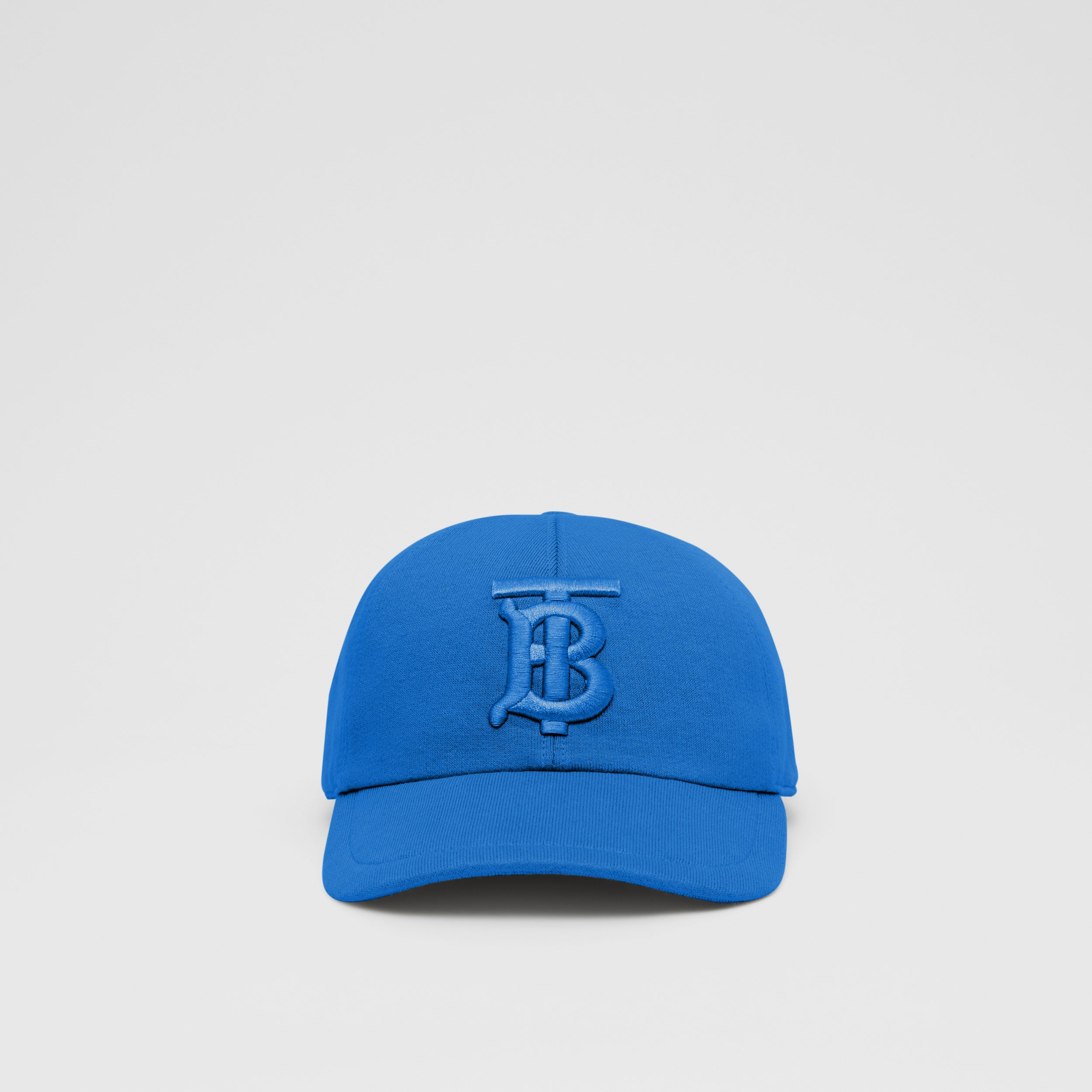 Monogram Motif Jersey Baseball Cap in Vibrant Blue | Burberry - 1