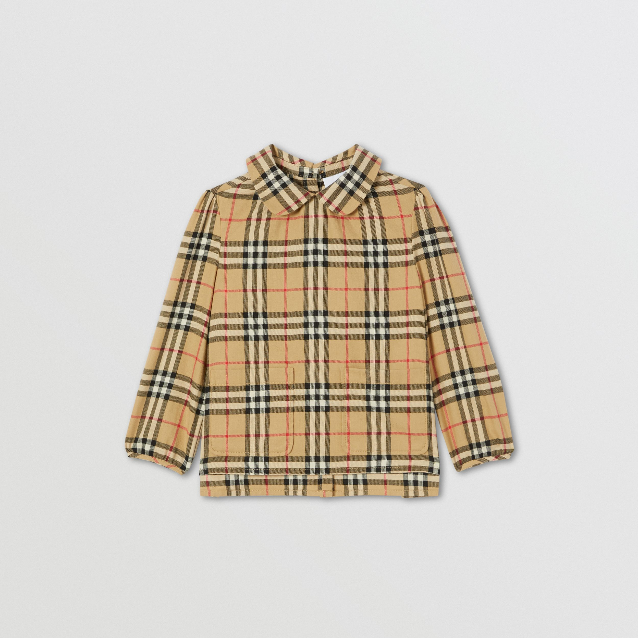 Peter Pan Collar Vintage Check Cotton Blouse | Burberry Australia - 1
