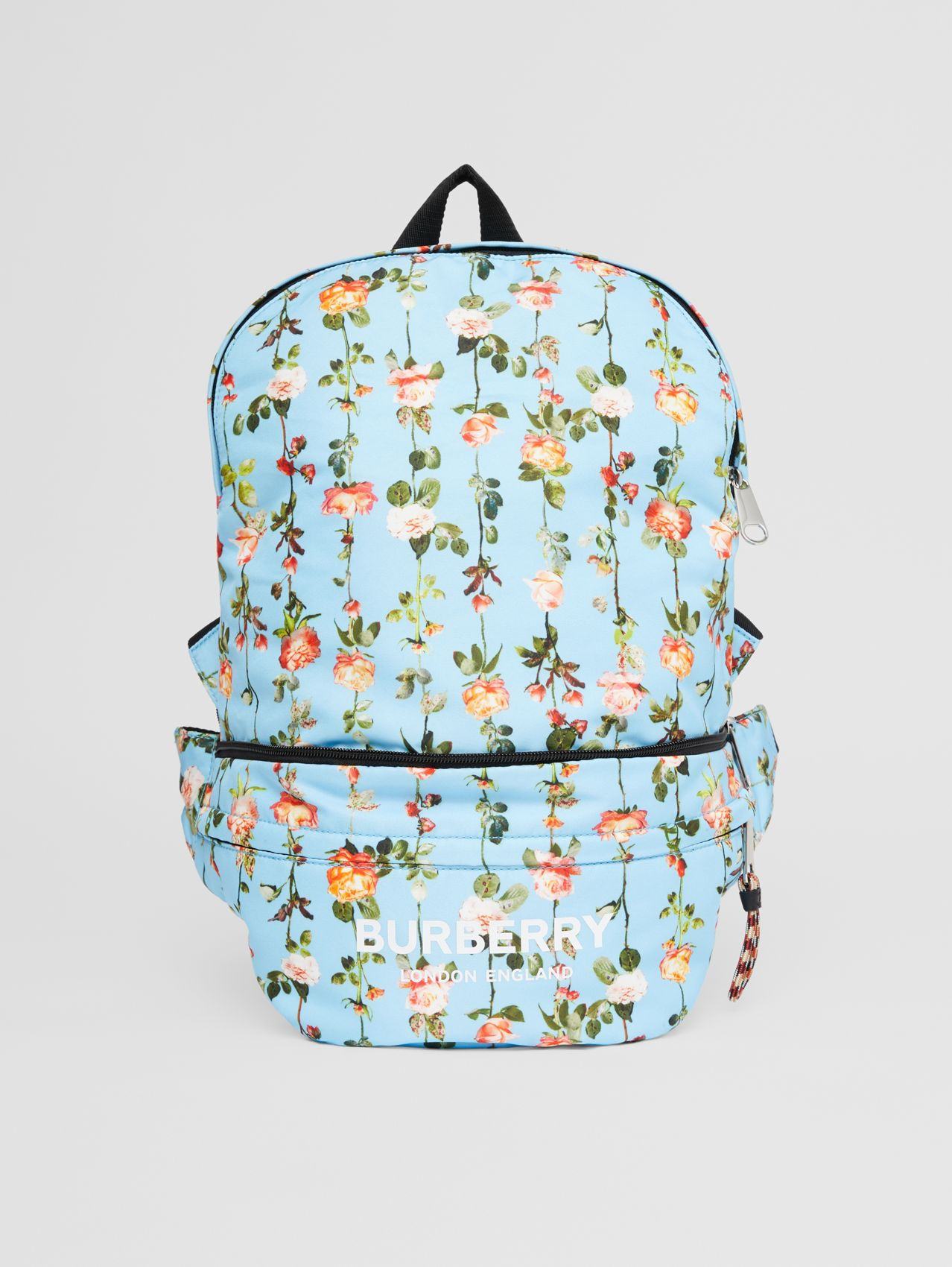 Rose Print Convertible Bum Bag in Multicolour
