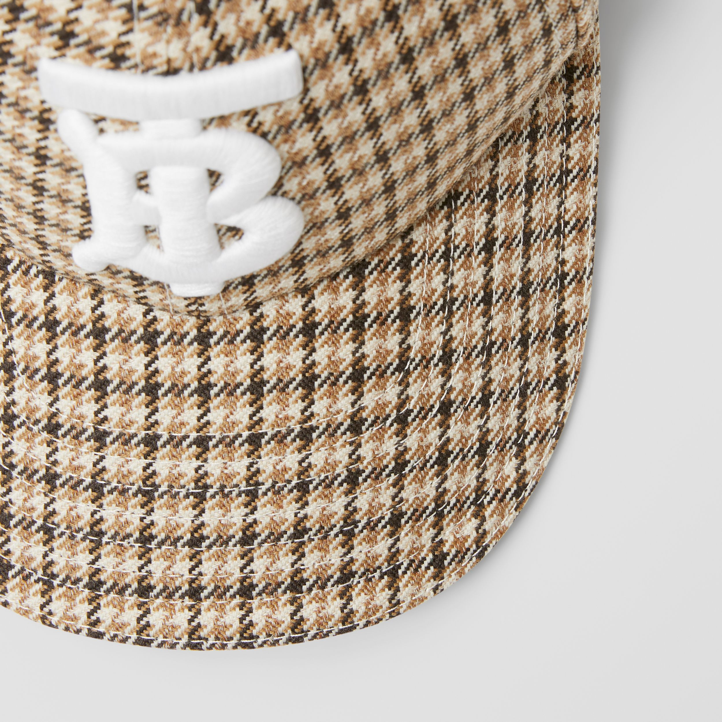 Monogram Motif Houndstooth Check Baseball Cap in Fawn | Burberry - 2