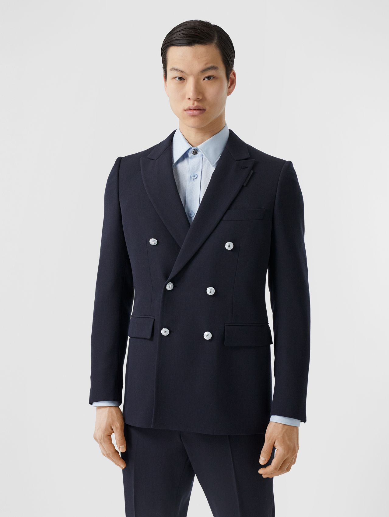 English Fit Wool Double-breasted Jacket