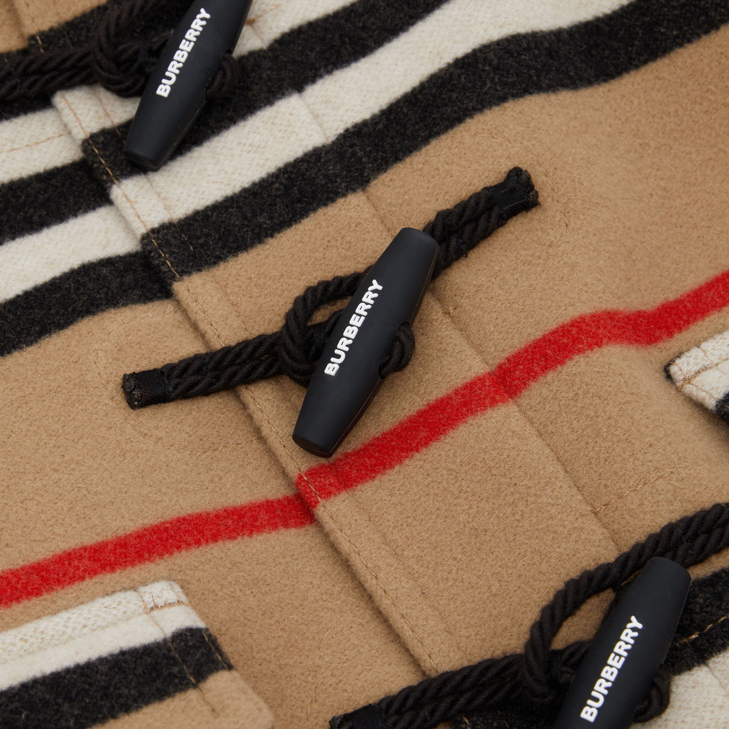 Duffle-coat en laine double face à rayures iconiques | Burberry Canada - 2