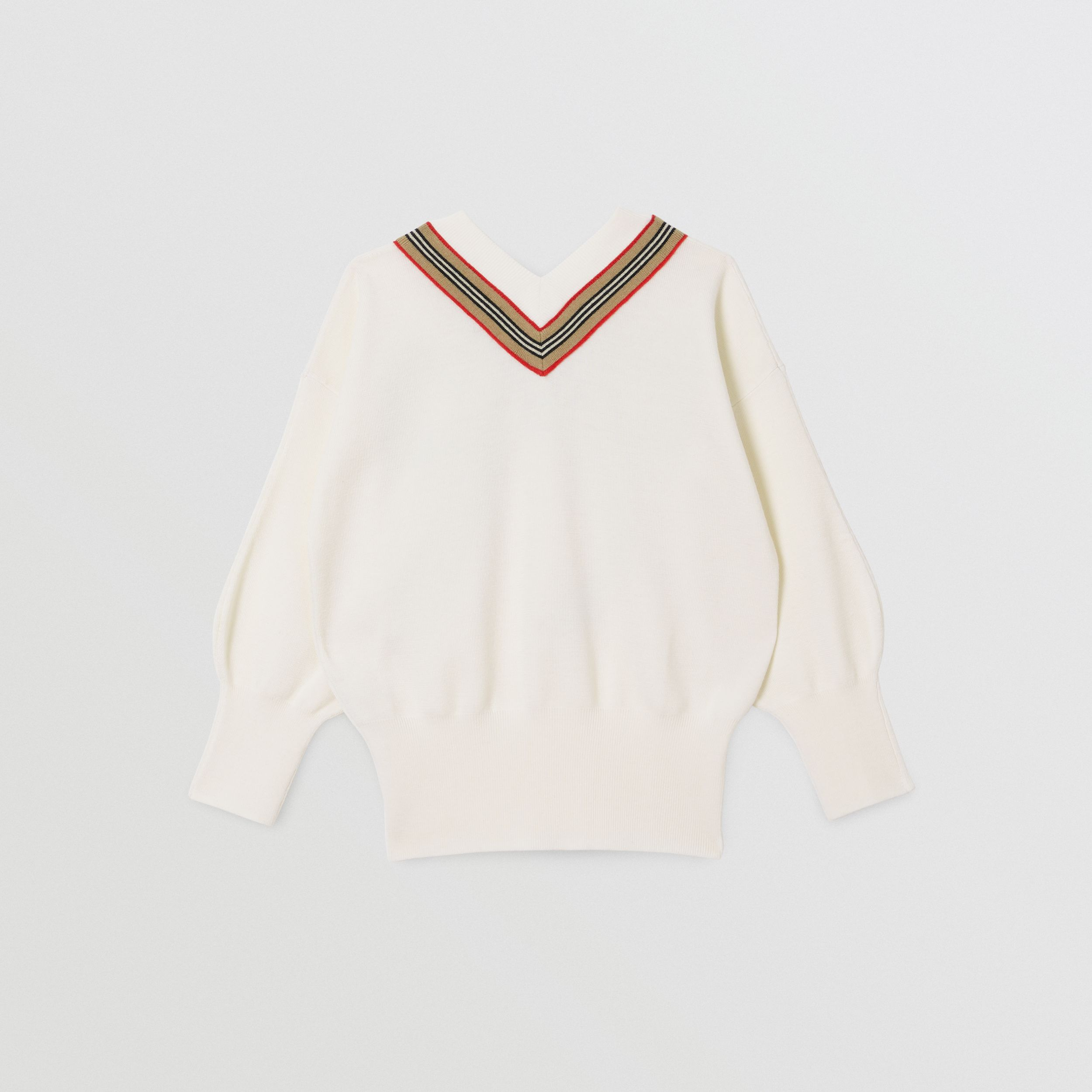 Icon Stripe Bow Merino Wool Silk Sweater | Burberry Canada - 4