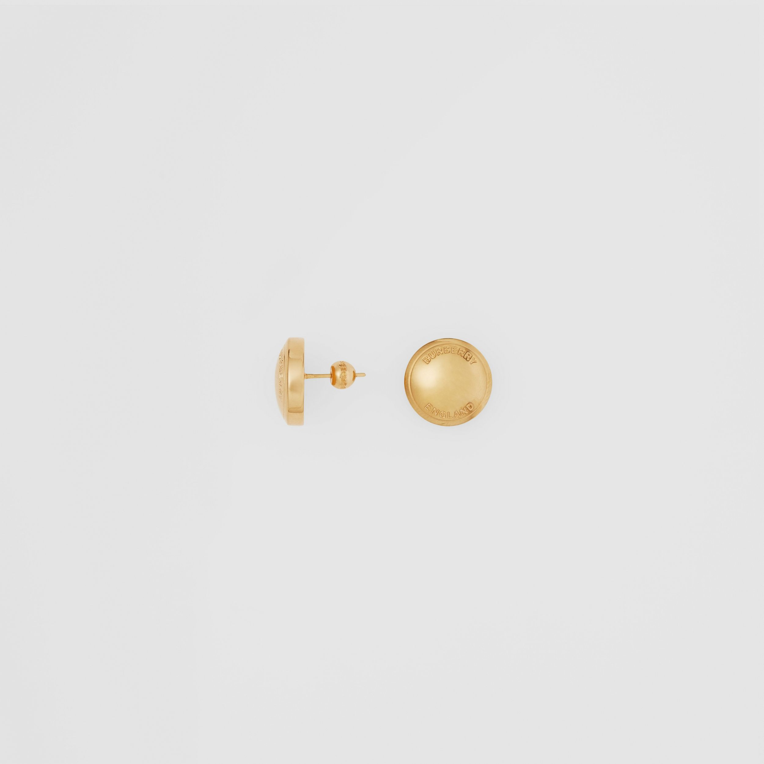 Logo Detail Gold-plated Earrings in Light - Women | Burberry - 4