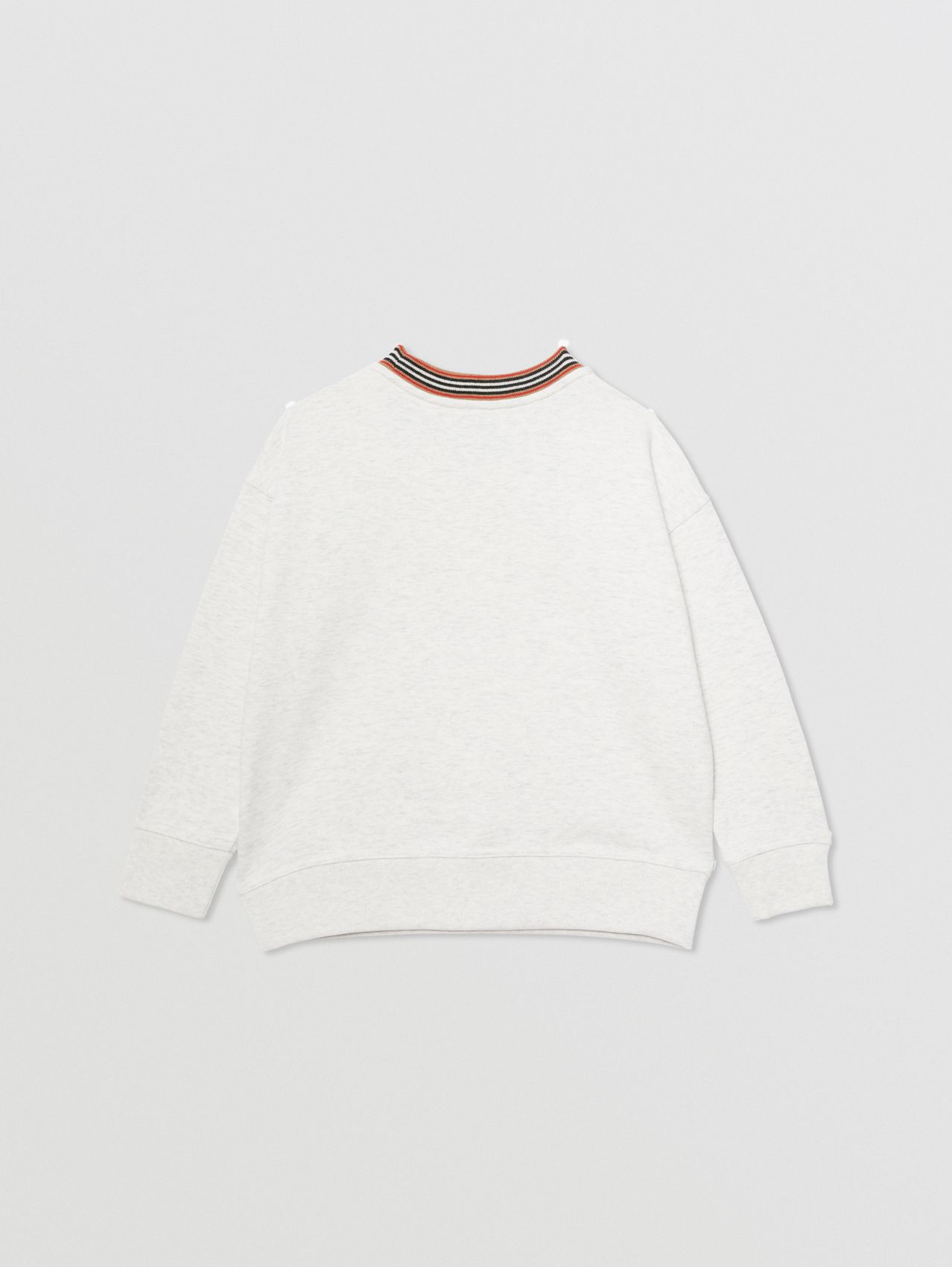 Confectionery Logo Print Cotton Sweatshirt in White Melange