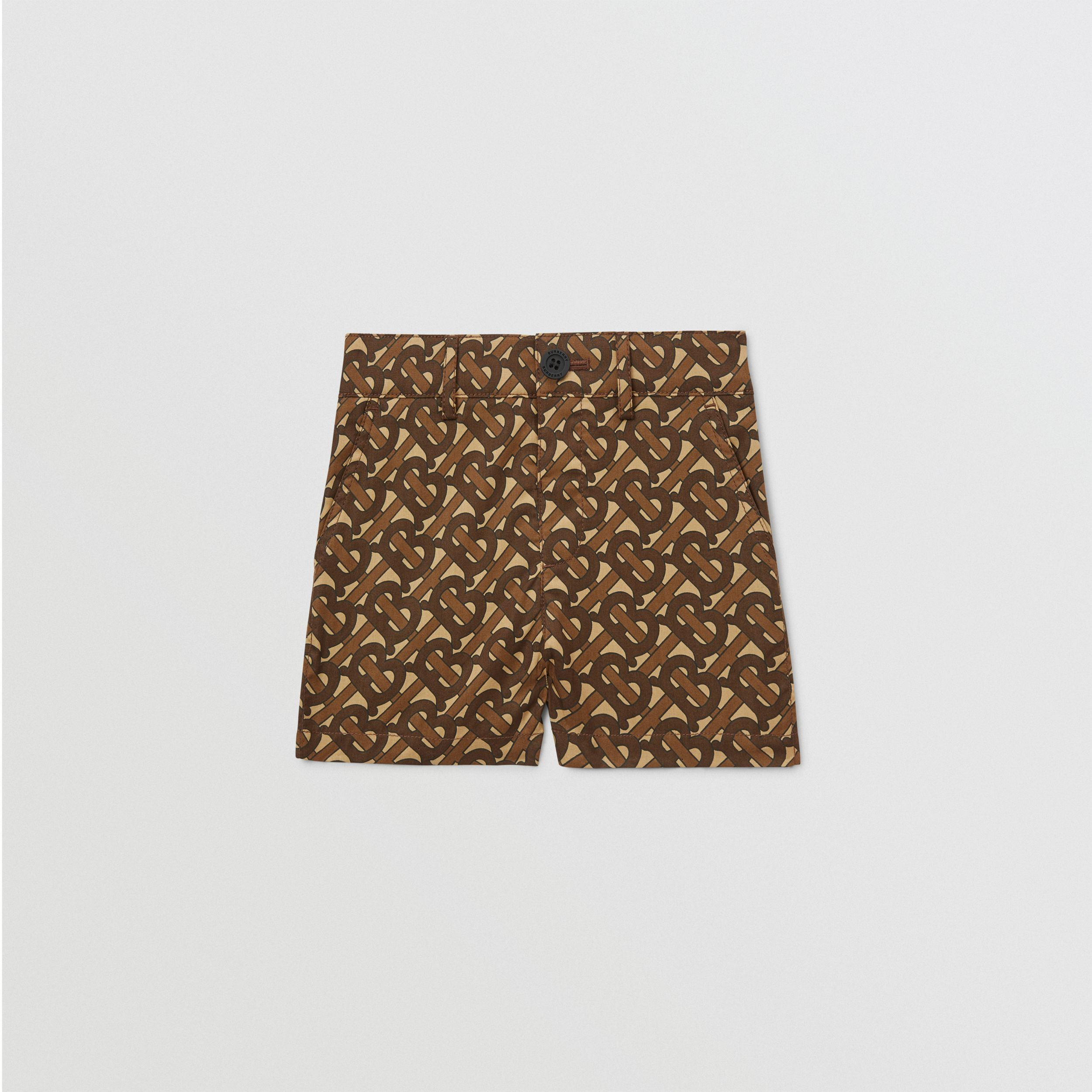Monogram Print Cotton Tailored Shorts - Children | Burberry - 1