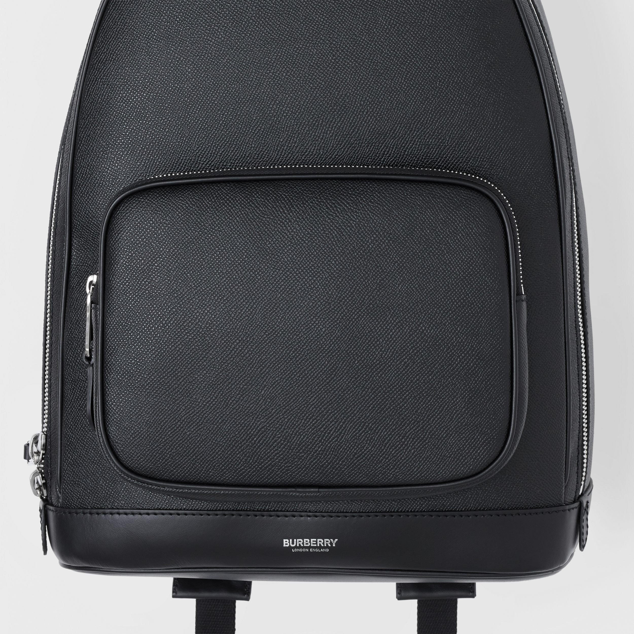 Grainy Leather Backpack in Black - Men | Burberry Singapore - 2