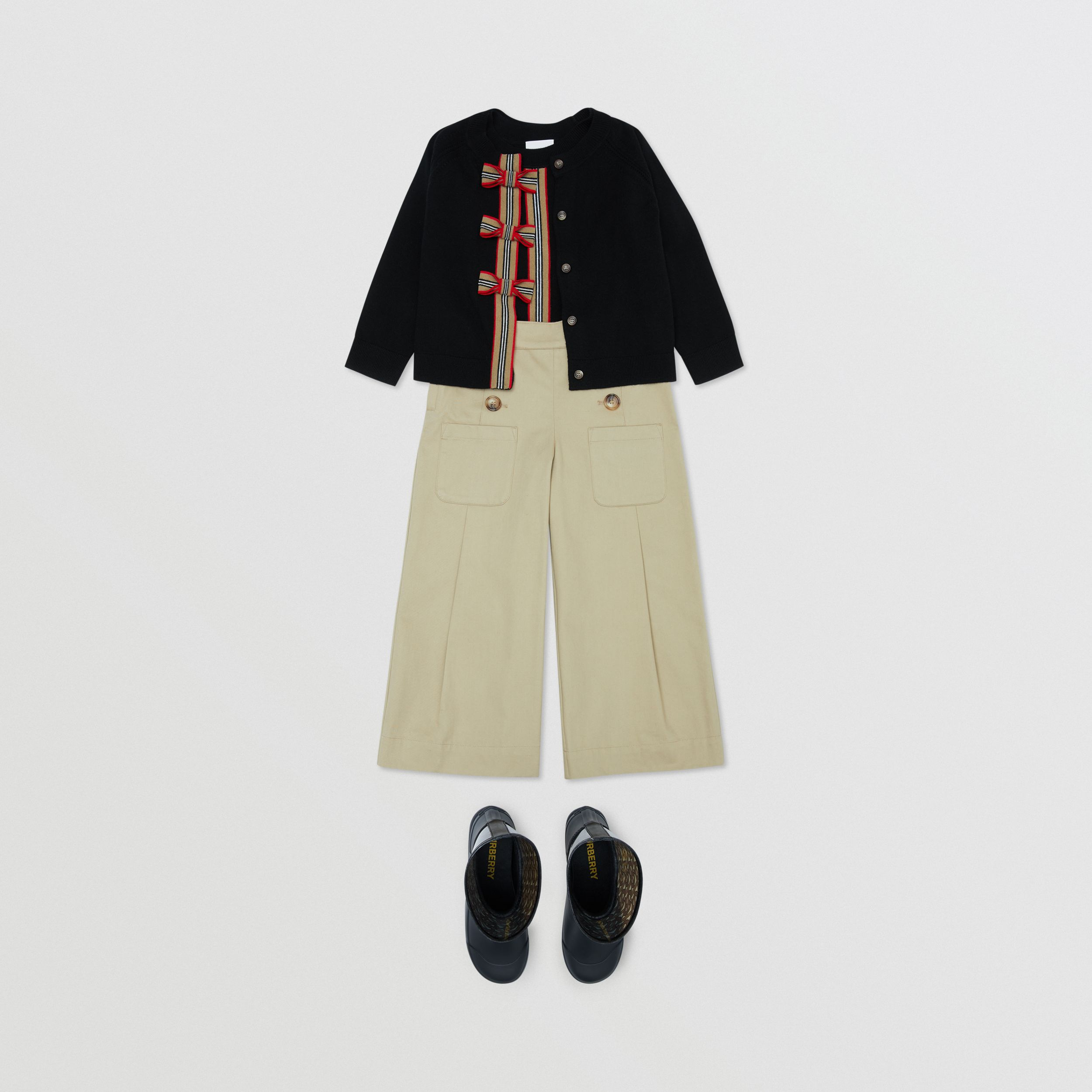 Icon Stripe Trim Merino Wool Two-piece Set | Burberry - 4