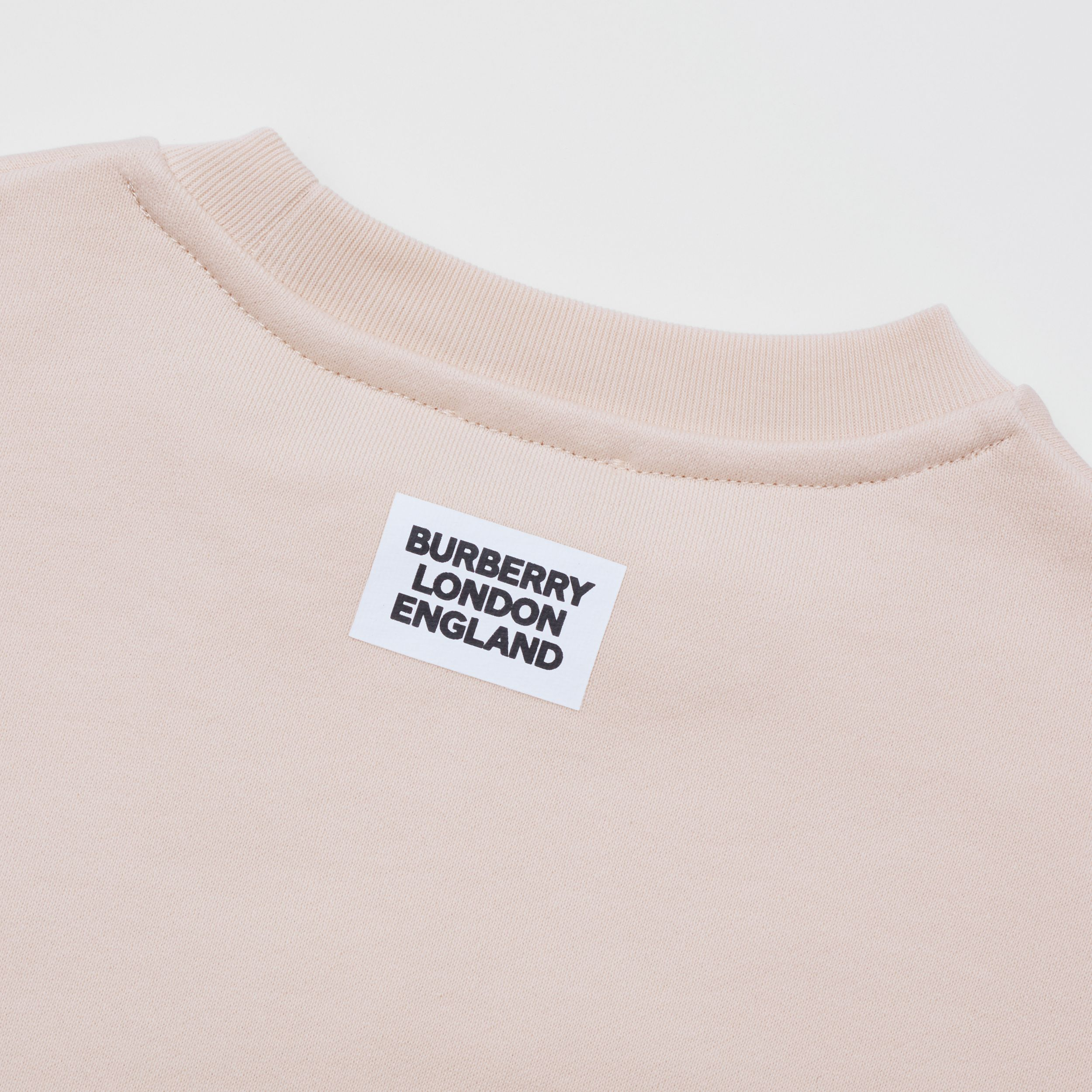 Unicorn Print Cotton Sweatshirt in Soft Pink | Burberry - 2