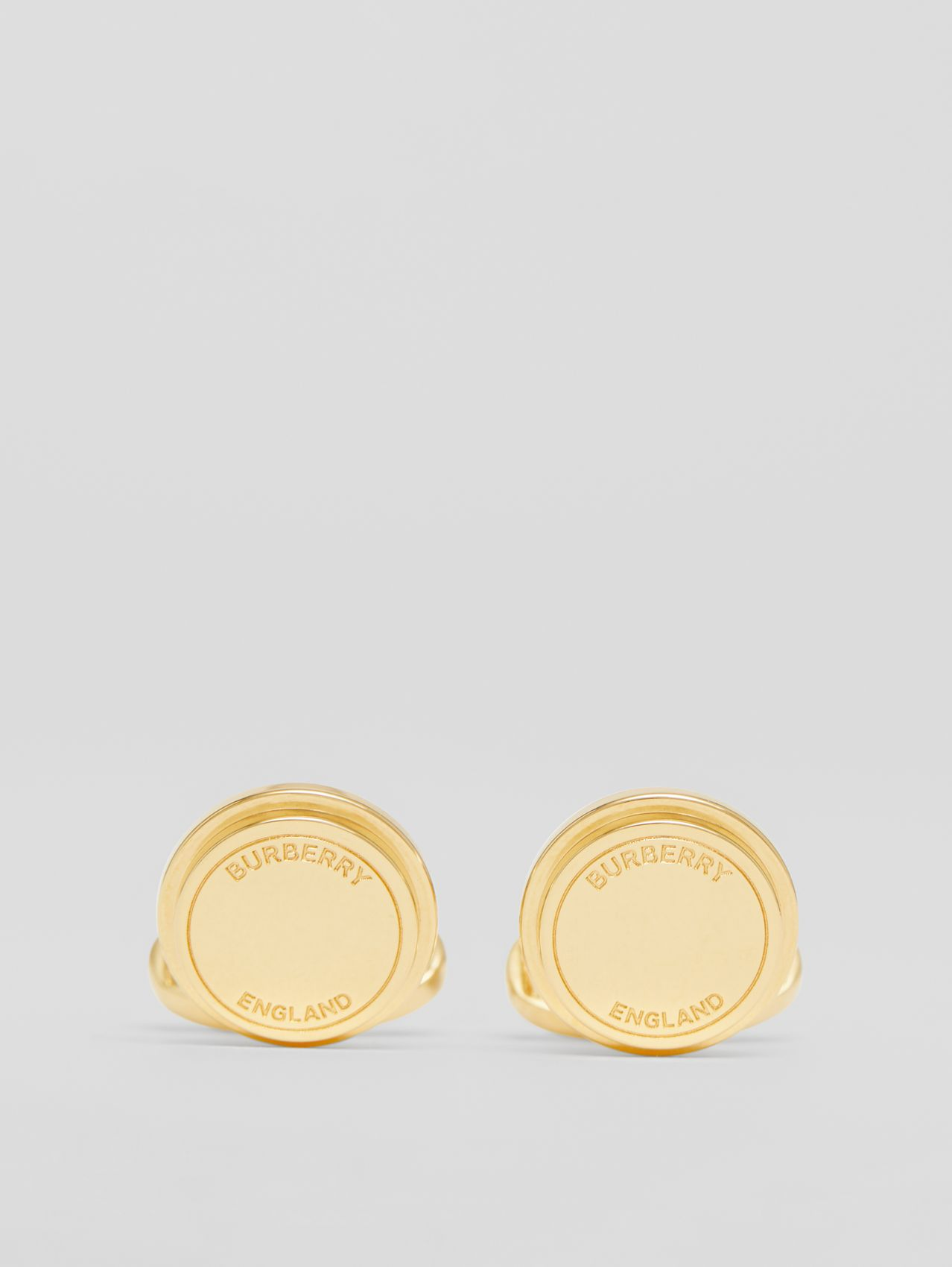 Engraved Gold-plated Cufflinks in Light