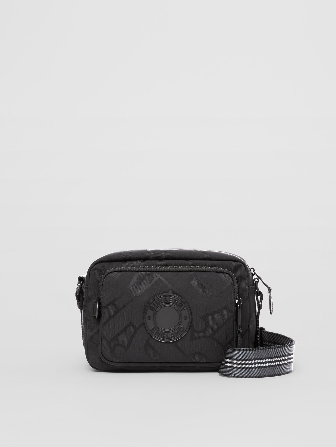 Monogram Recycled Polyester Crossbody Bag (Black)