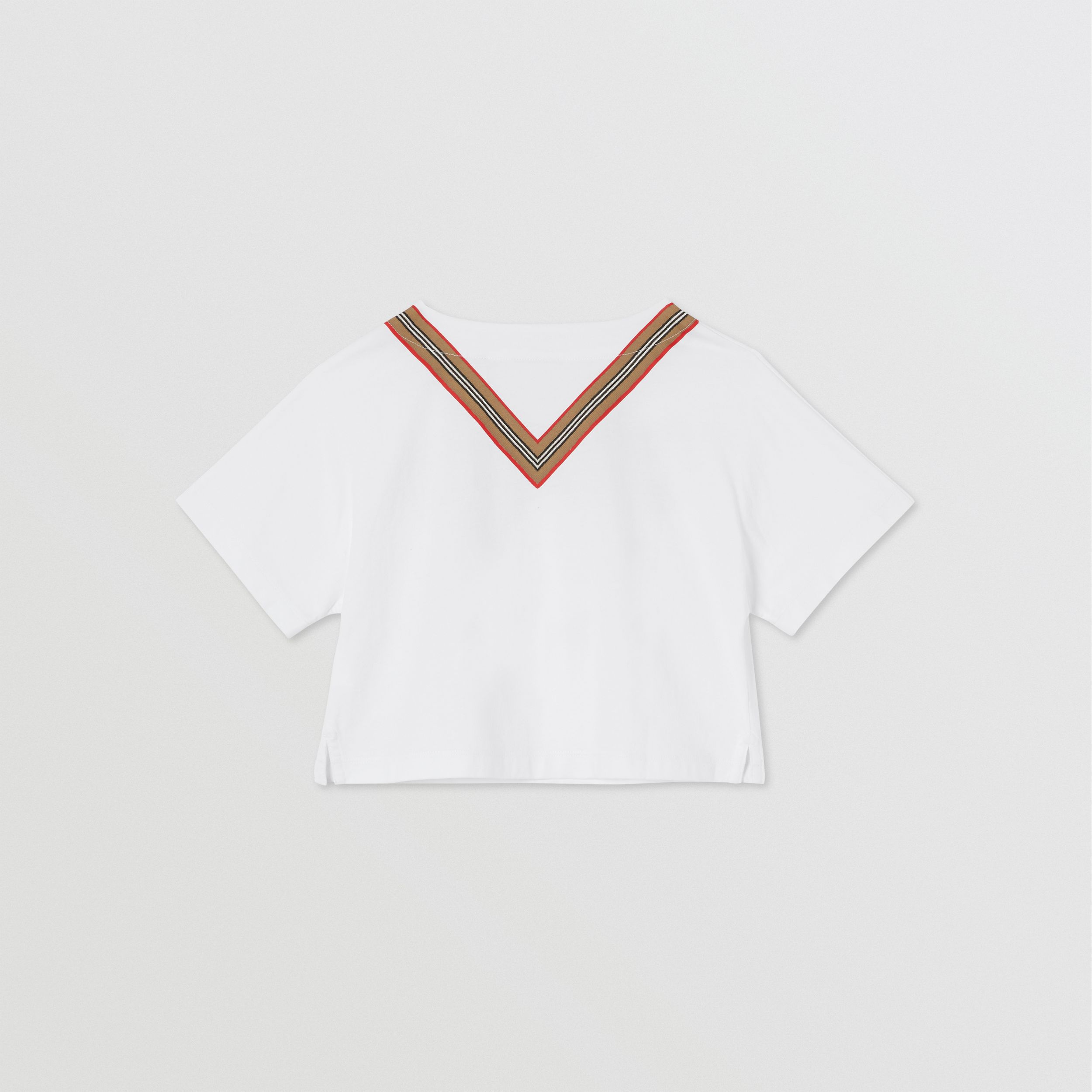 Icon Stripe Bow Cotton T-shirt | Burberry Hong Kong S.A.R. - 4