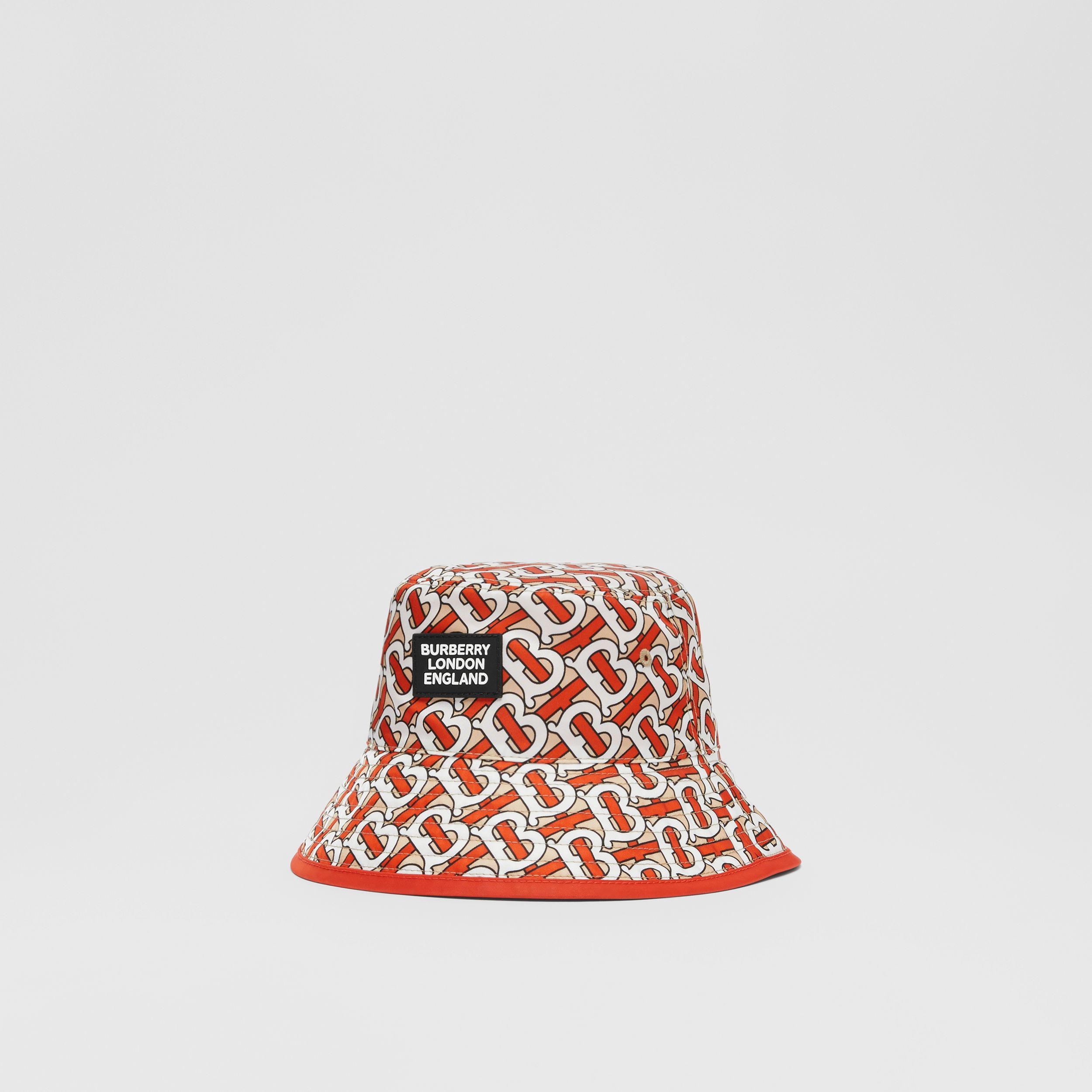 Reversible Monogram Print Bucket Hat in Vermilion - Children | Burberry Hong Kong S.A.R. - 4