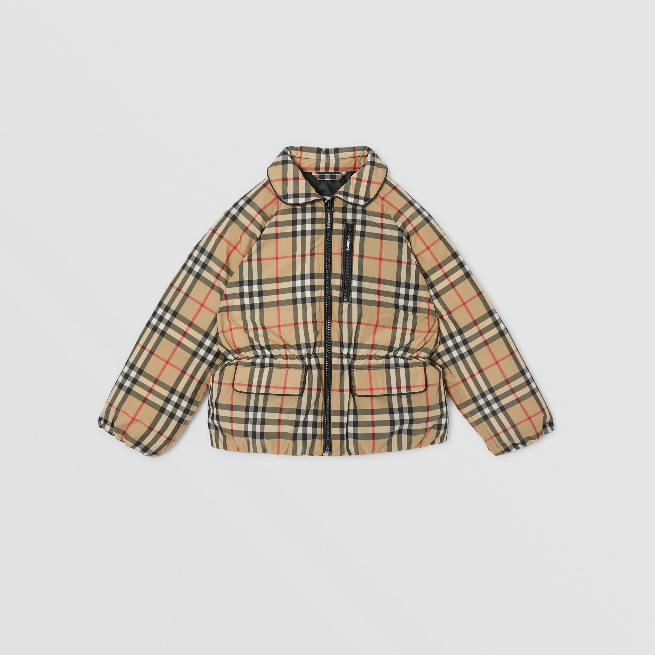 Vintage Check Down-filled Recycled Polyester Jacket in Archive Beige | Burberry - 1