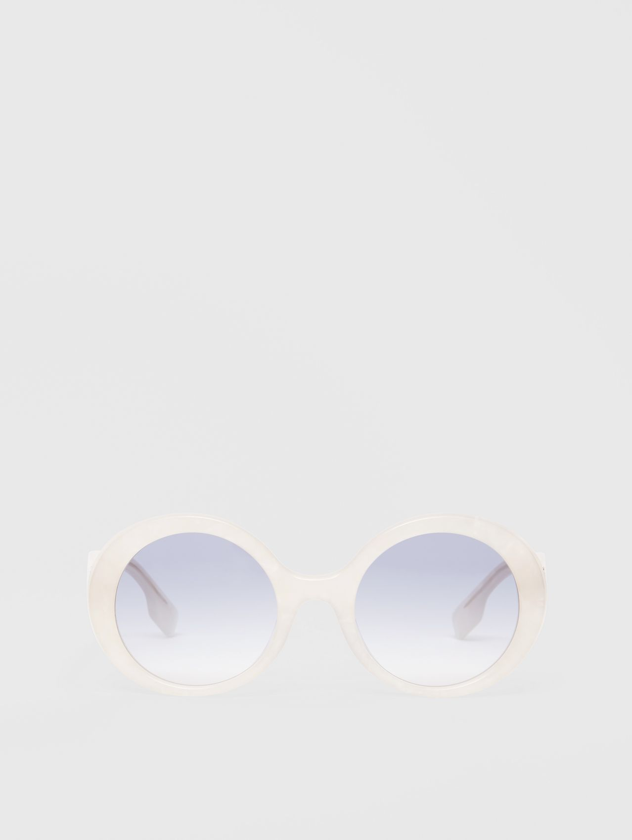 Oversized Round Frame Sunglasses in Pearl