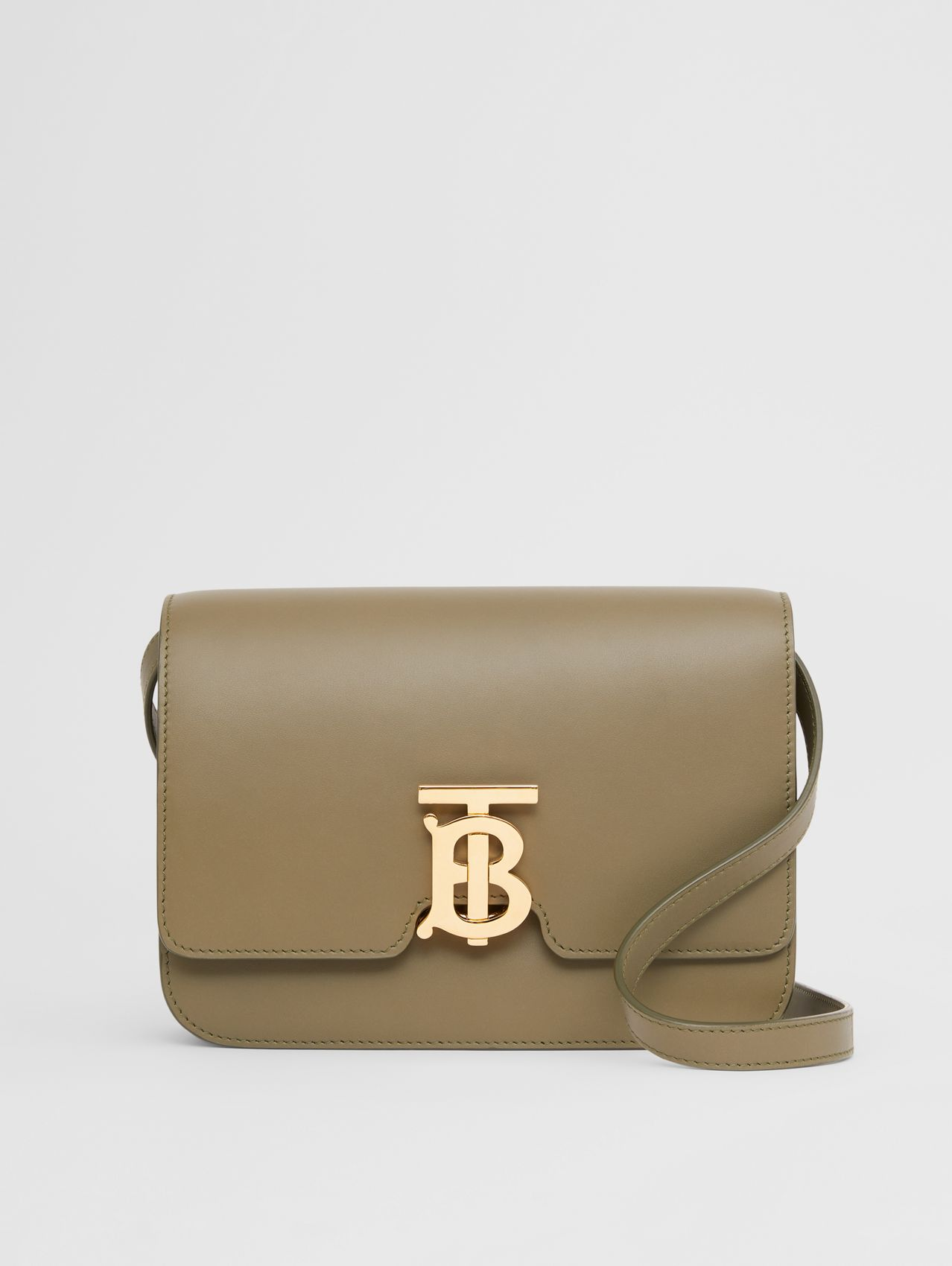 Small Leather TB Bag in Dark Fern Green